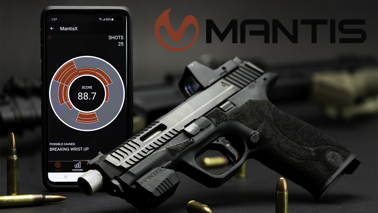 MantisX 10 Elite Training System app and Agency Arms pistol